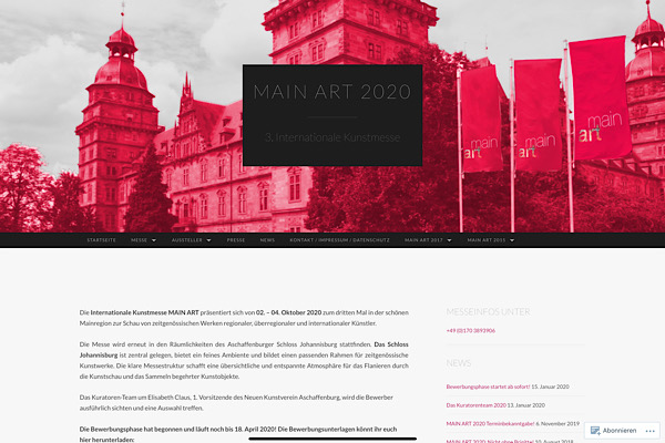 Webdesign Main Art Kunstmesse