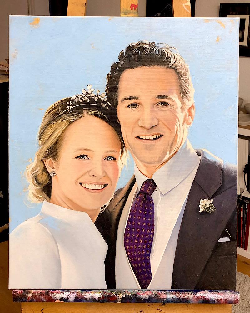 Portraitauftrag in Öl auf Leinwand 50x60cm © Rita Stern Kunst Miltenberg