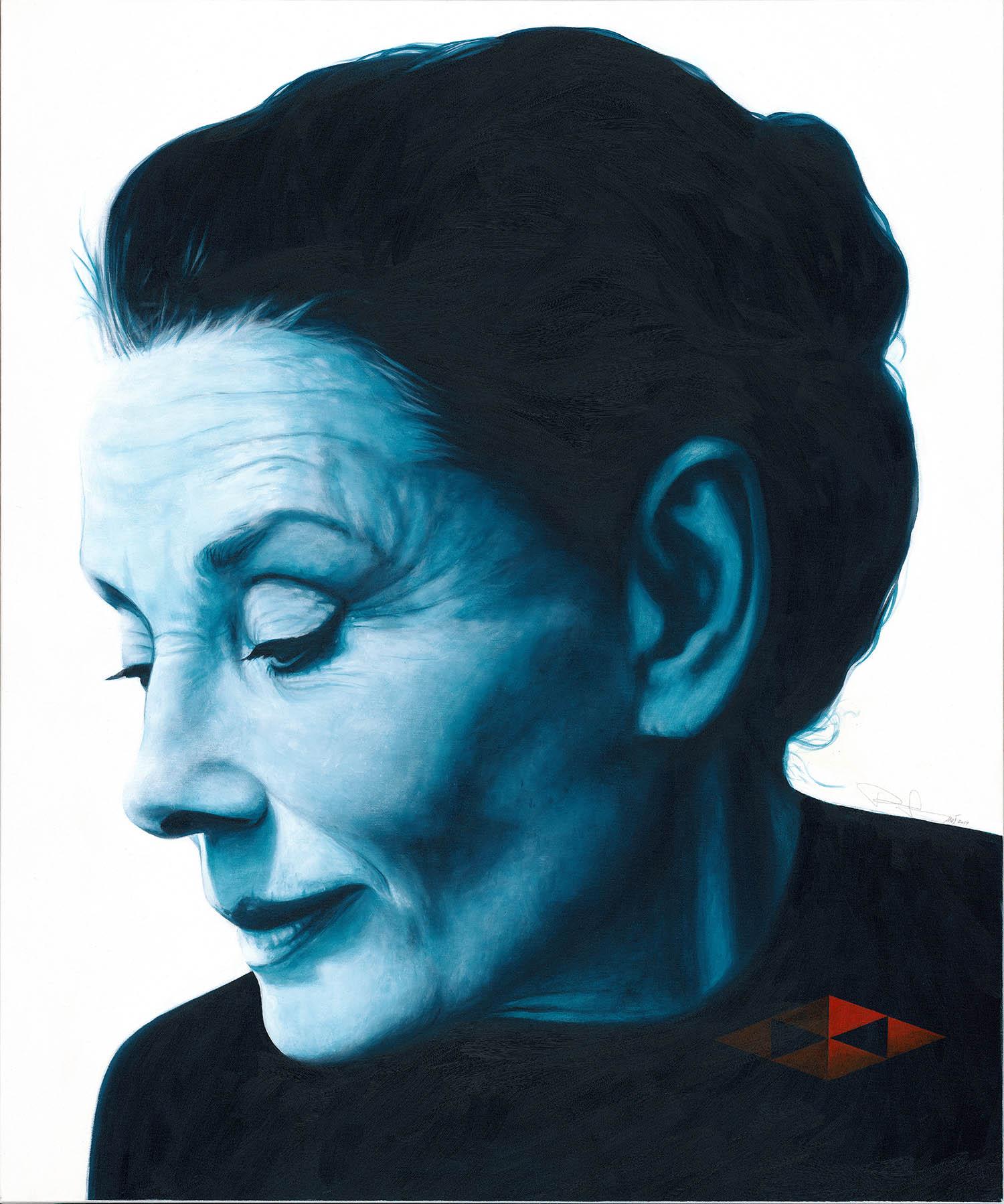 Audrey IV / Acryl auf Leinwand 100x120cm © Rita Stern Miltenberg