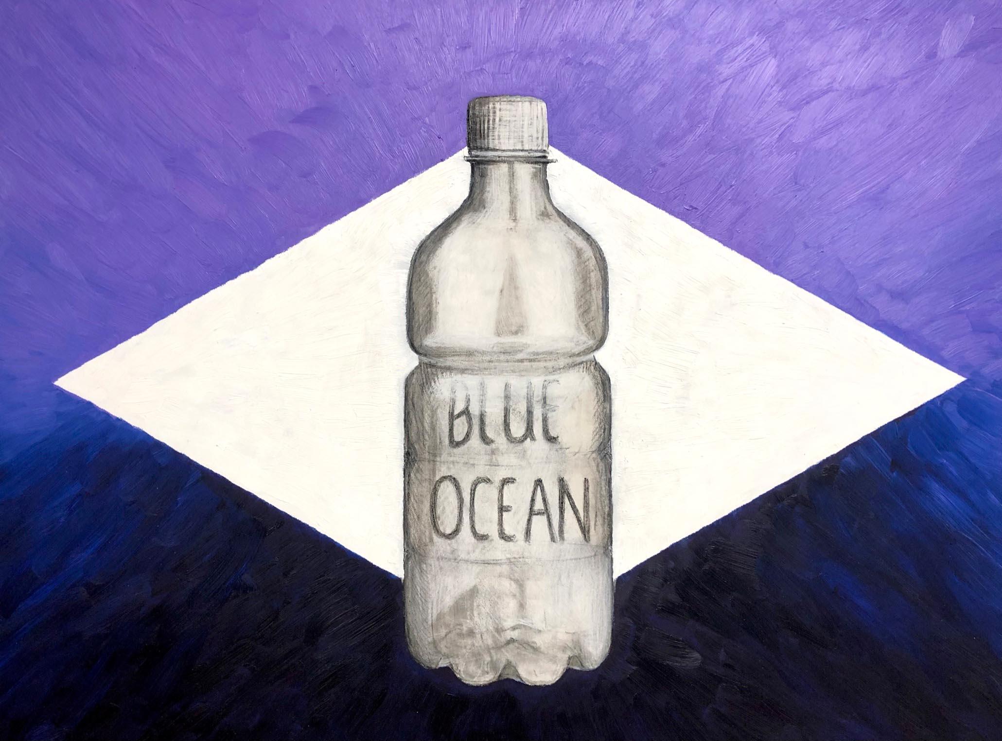 Blue Ocean Öl-Kohleskizze © Rita Stern Miltenberg