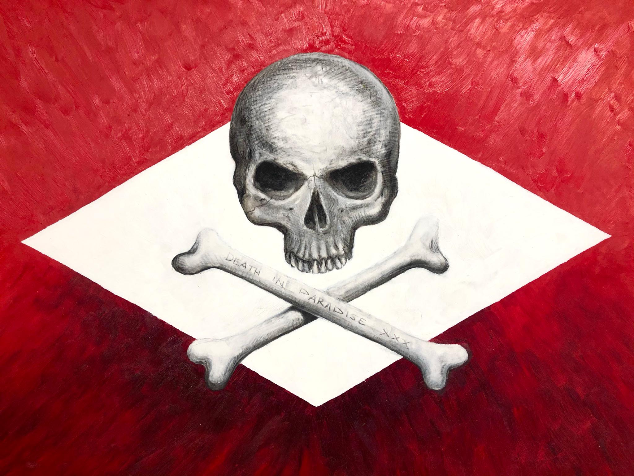 Death in Paradise Öl-Kohleskizze © Rita Stern Miltenberg