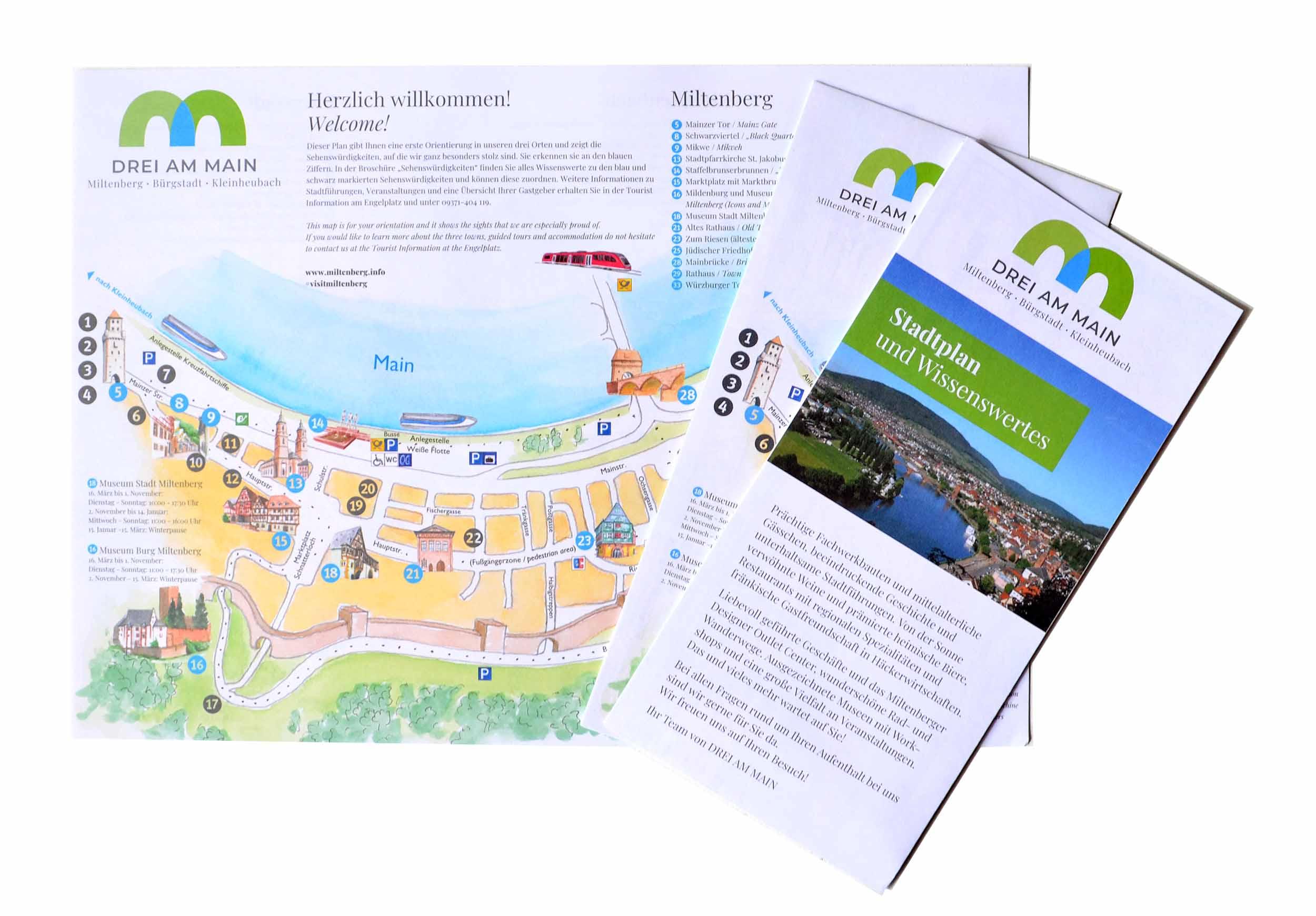 llustration des Stadtplans für DREI AM MAIN