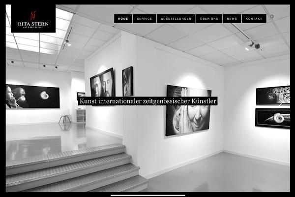 Webdesign Galerie Rita Stern
