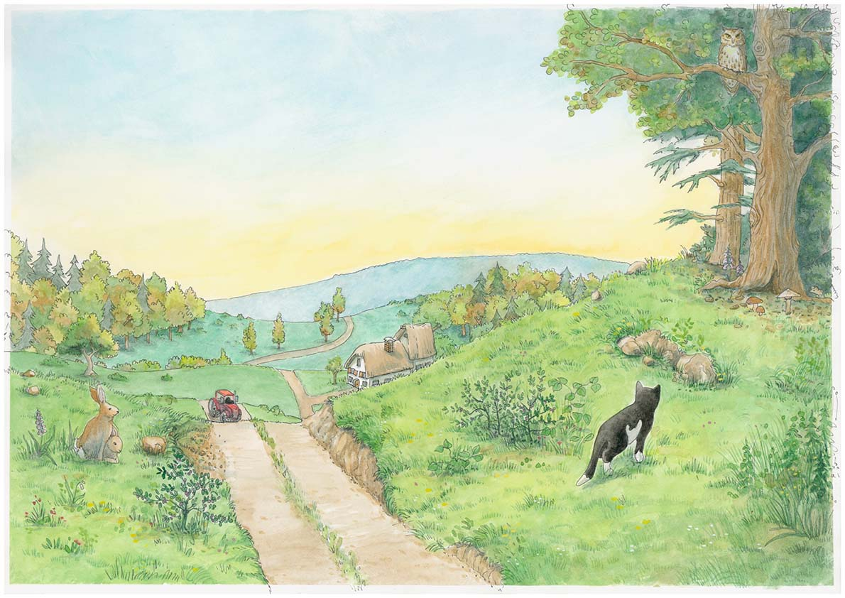 Kinderbuch Illustration Aquarell © Rita Stern Miltenberg