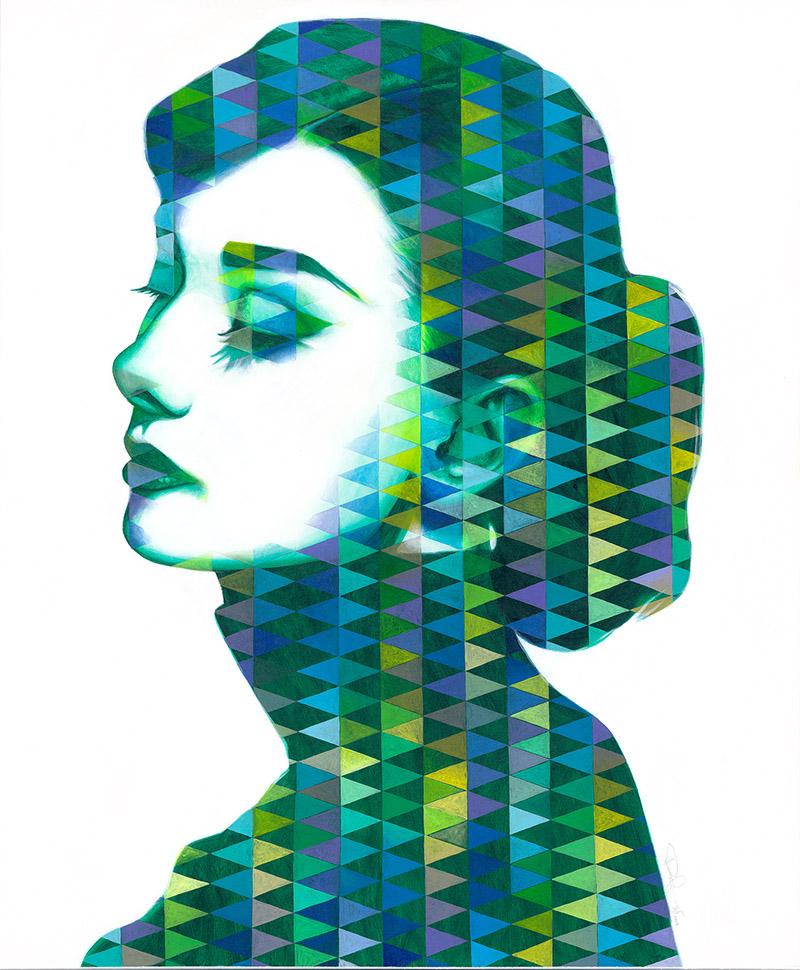 Audrey I / Acryl auf Leinwand 100x120cm © Rita Stern Miltenberg