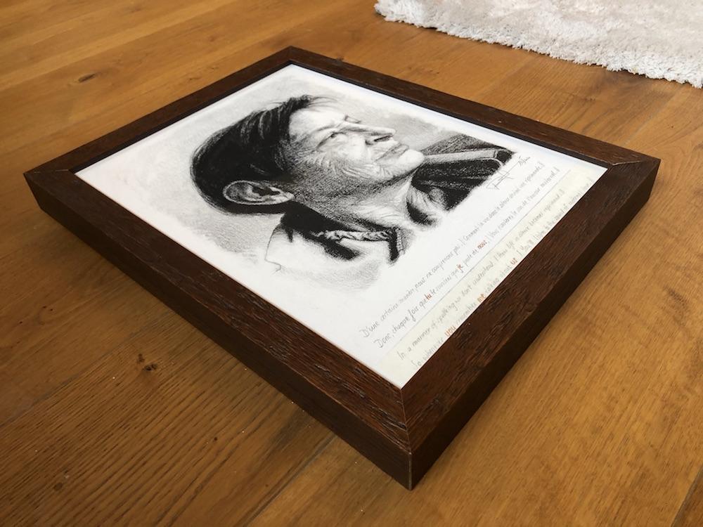 Gerahmter Portraitauftrag Kohle © Rita Stern Miltenberg