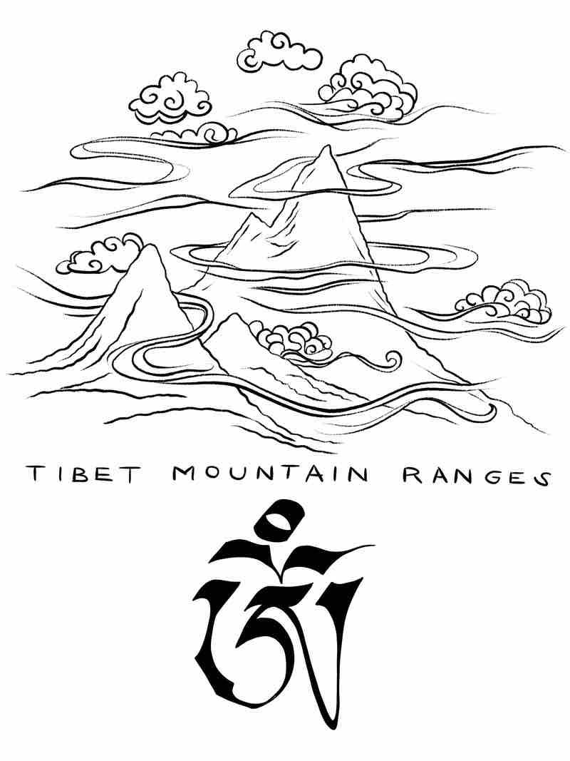 Digitale Illustration / Tibet Mountain Ranges / OM