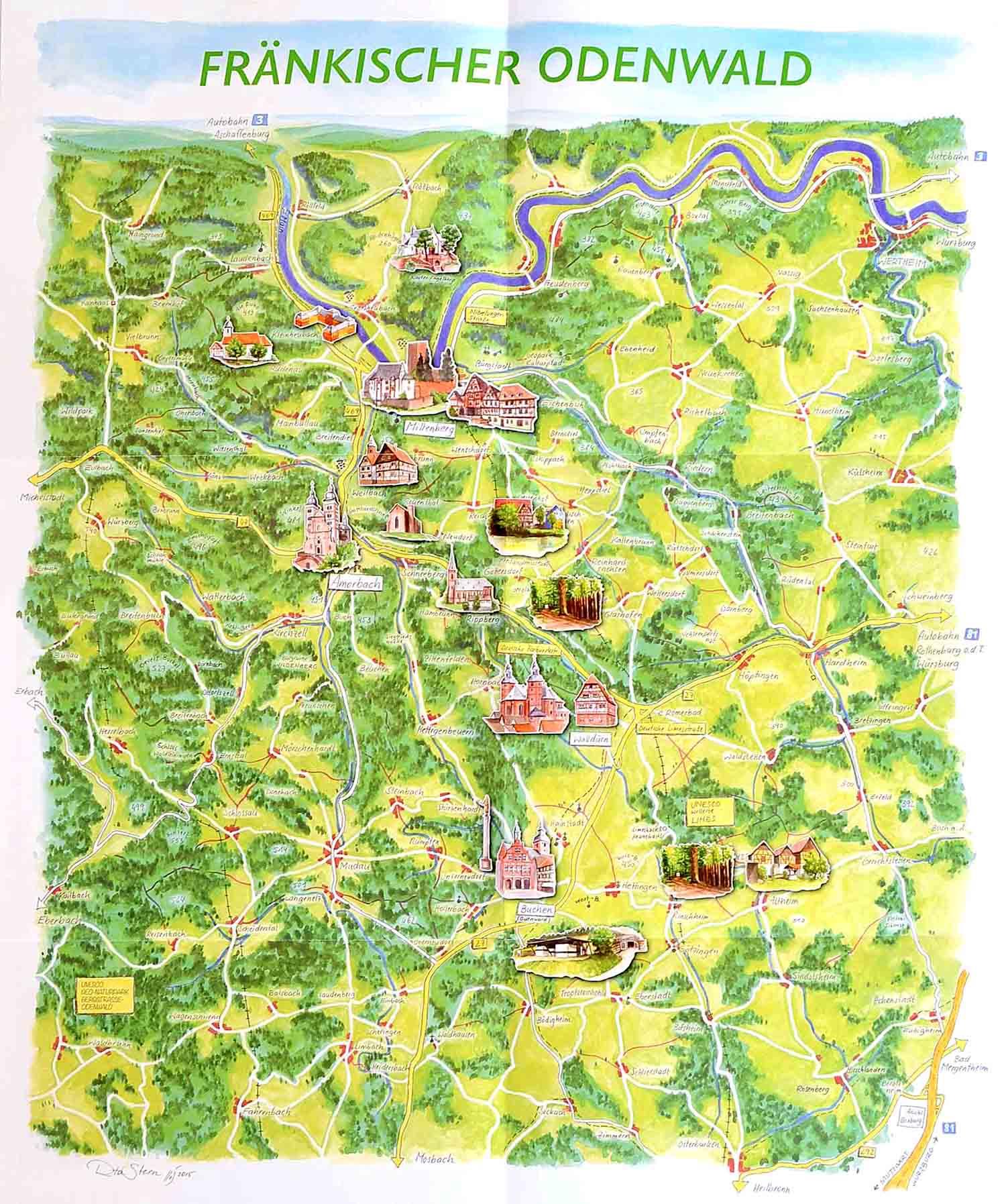 Illustration der Karte Fränkischer Odenwald