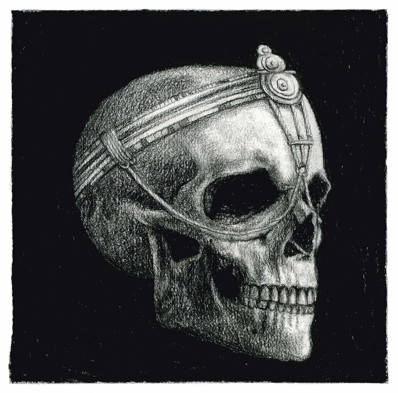 Der ewige Kreislauf aus Geburt und Vergänglichkeit / Kohle auf Papier © Rita Stern Kunst Miltenberg