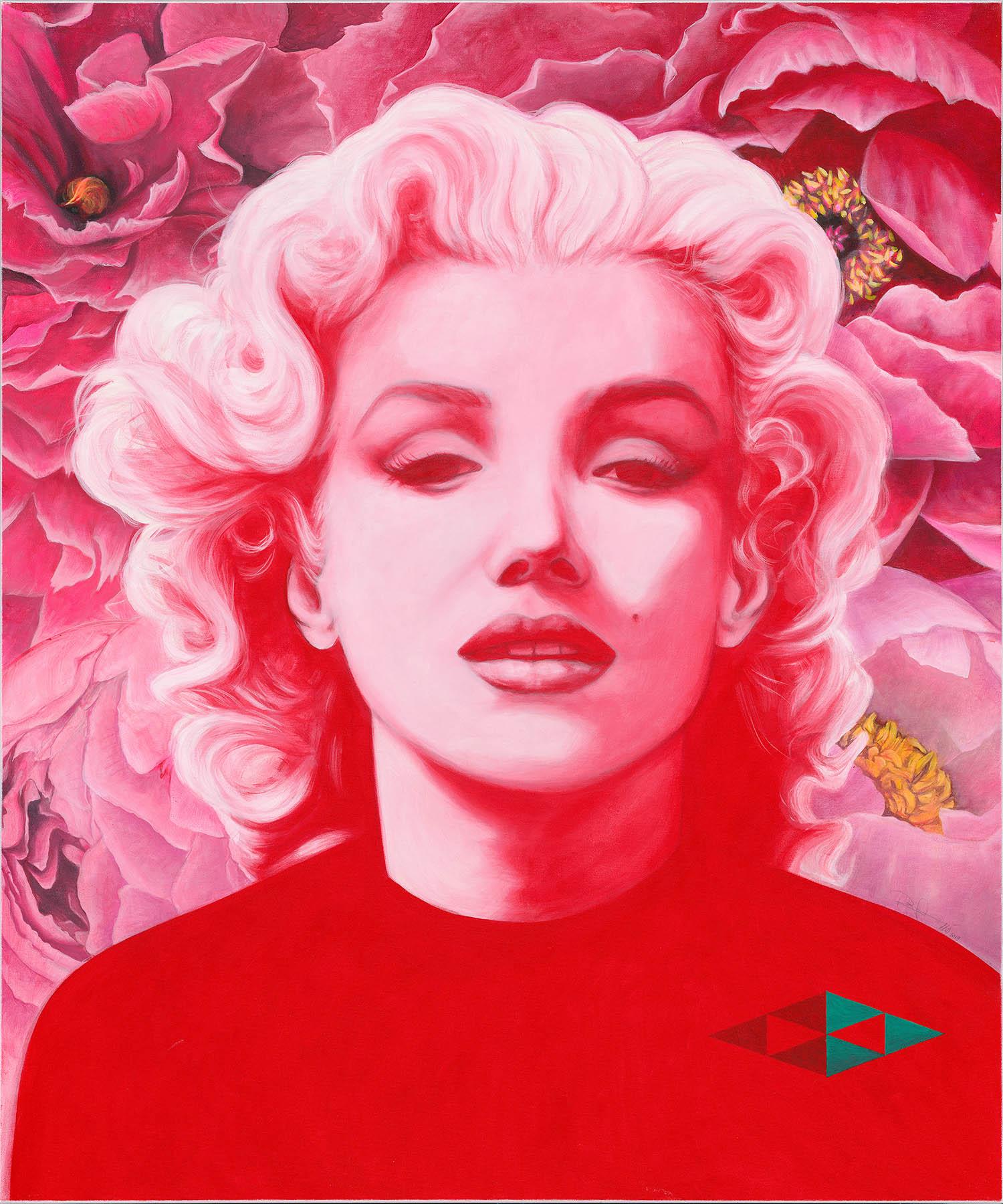 Norma Jean I / Acryl auf Leinwand 100x120cm © Rita Stern Miltenberg