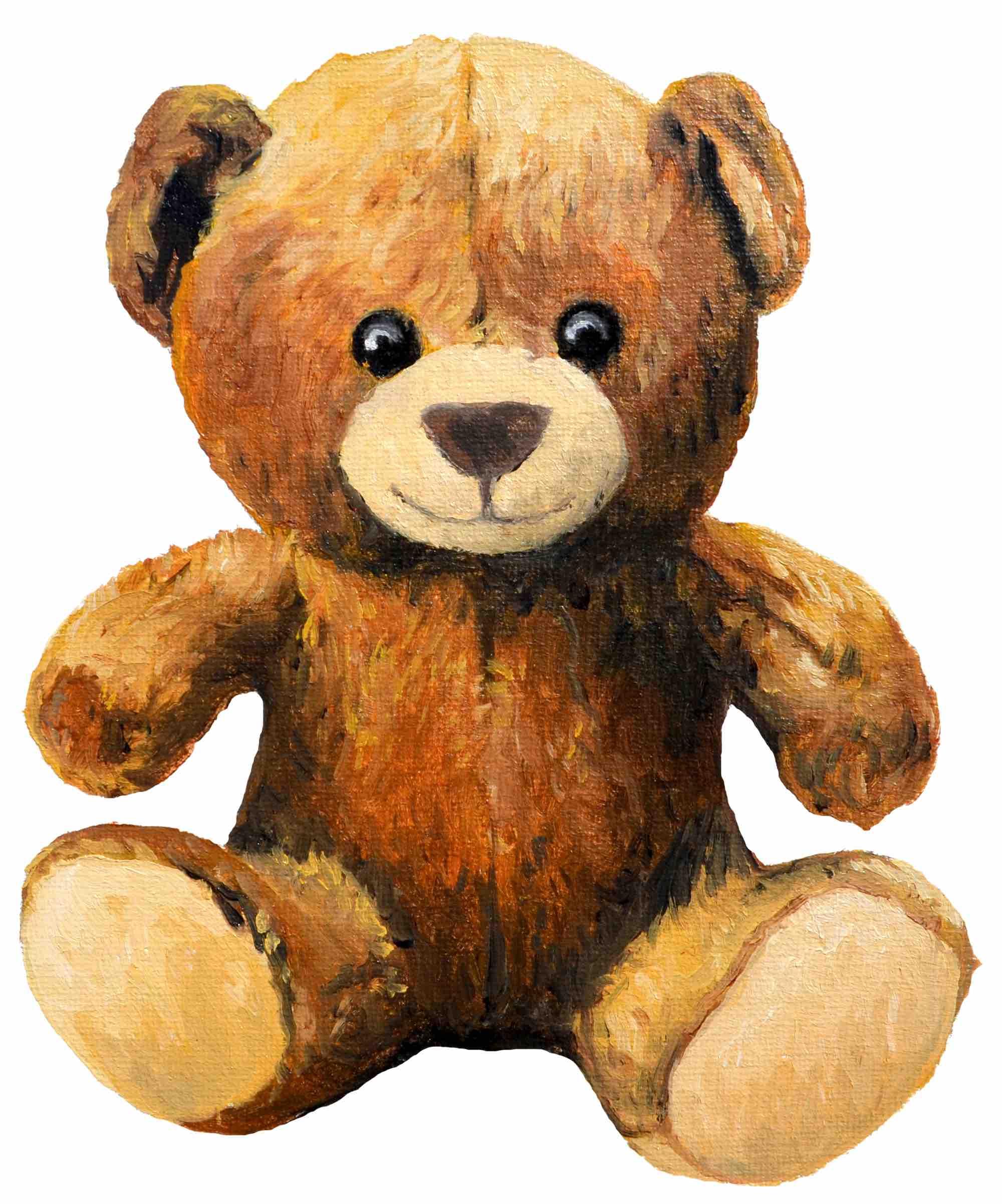 Illustration in Öl / Teddybär