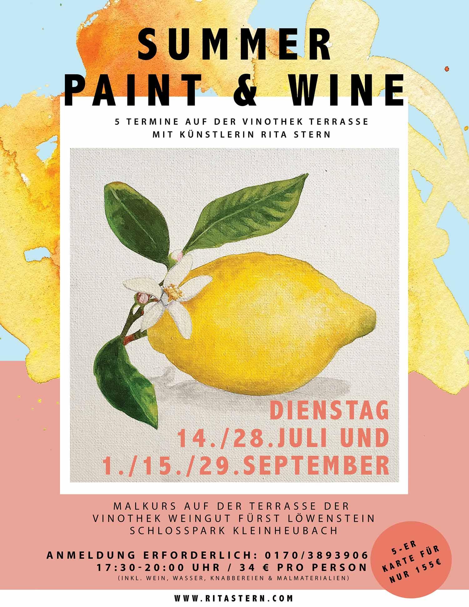 Paint &Wine Kunstkurs