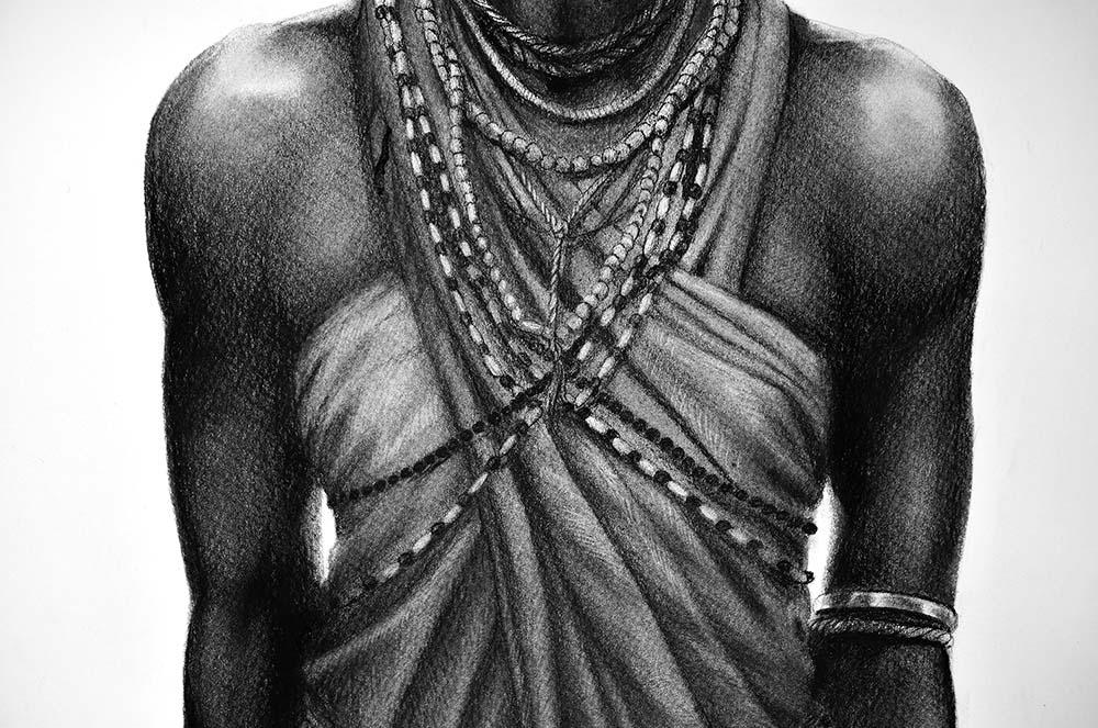 Ausschnitt: Tanz der Massai © Rita Stern Miltenberg