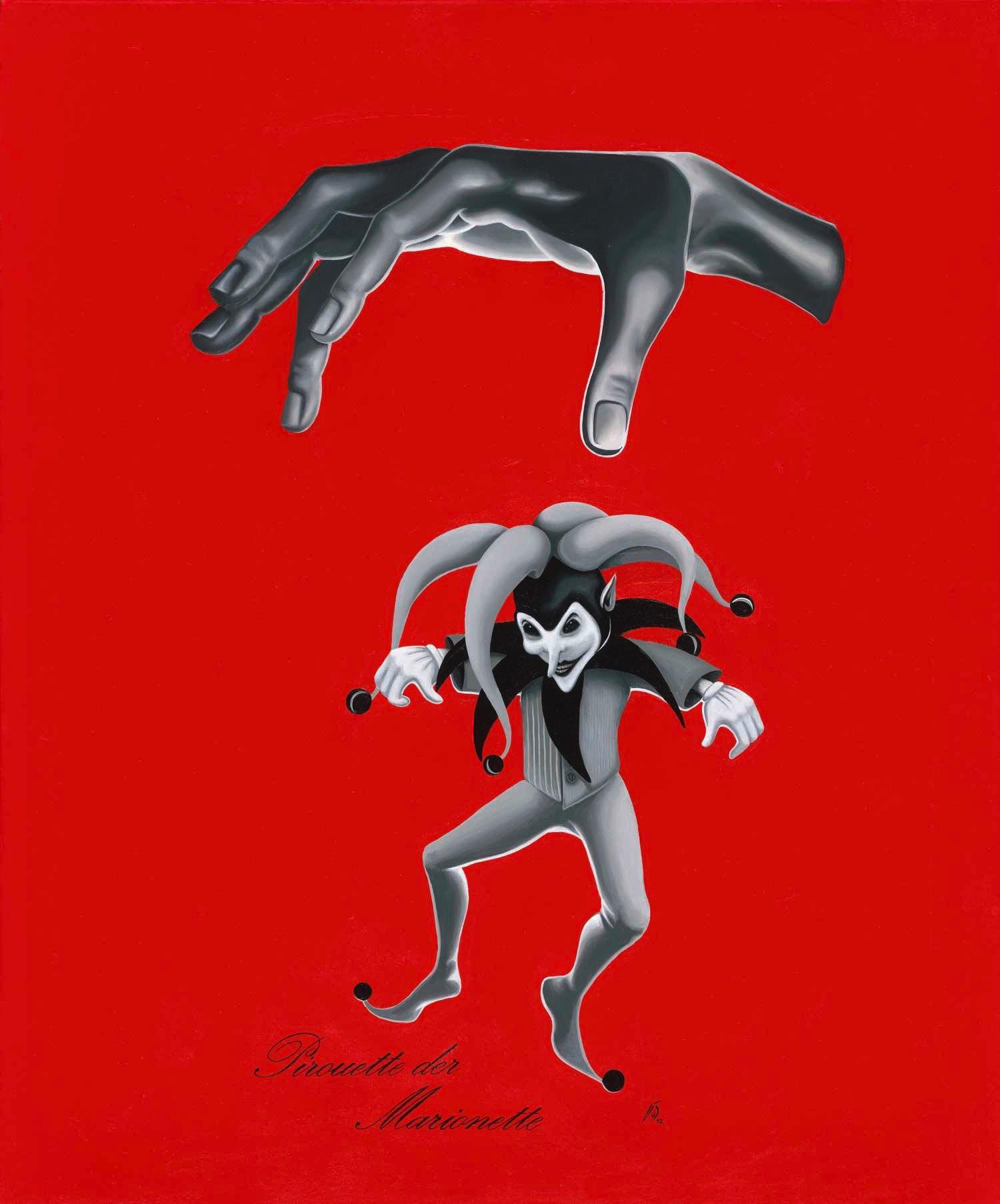 Pirouette der Marionette / Acryl und Öl auf Leinwand 100x120cm © Rita Stern Miltenberg